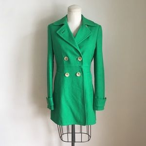 Banana Republic Green Pea Coat
